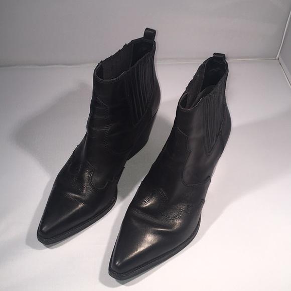 6ca1bc8c4 Sam Edelman Winona Western Bootie Black Leather. M_5cb417cb9ed36de24ca53fb9